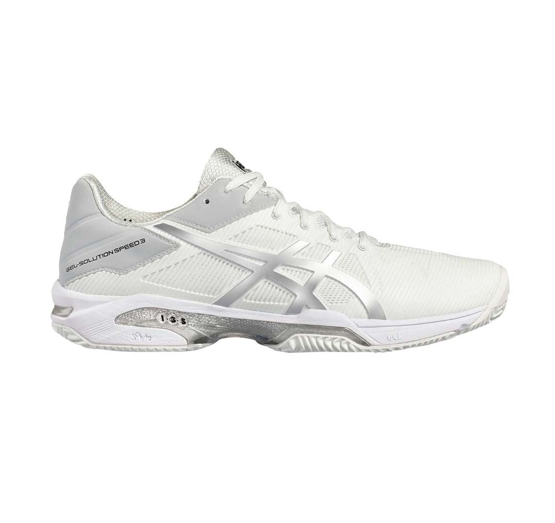 Audaz Tentación ex  ASICS GEL-SOLUTION SPEED 3 CLAY - WHITE/ SILVER - Padel Tenis Coronado